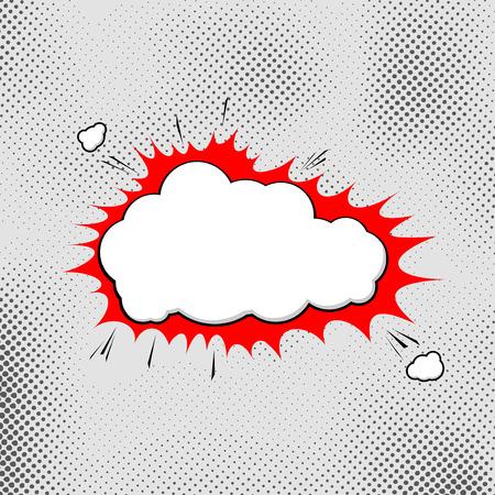 biff: Explosion pop-art bubble template comic style. Vector illustration