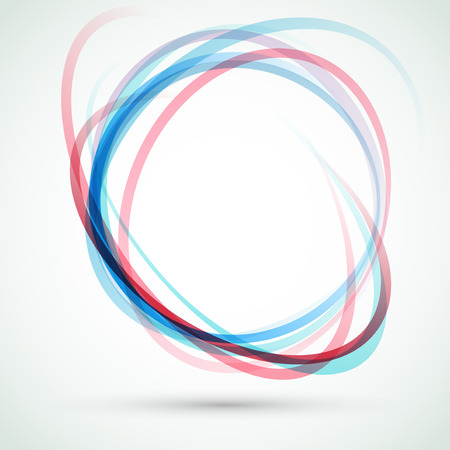 Abstract background blue-red swirly swoosh tornado design element. Vector illustration