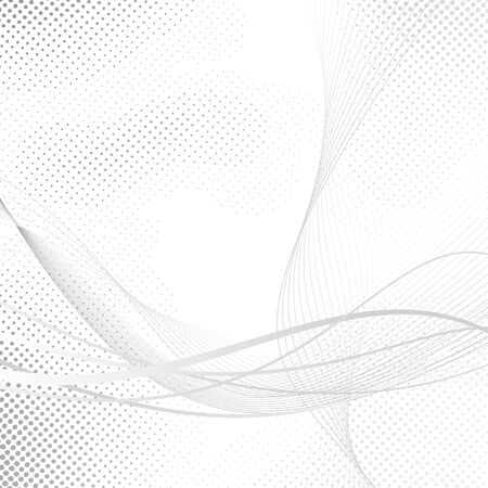 dotted lines: Abstract swoosh halftone lines dotted background. Vector illustration