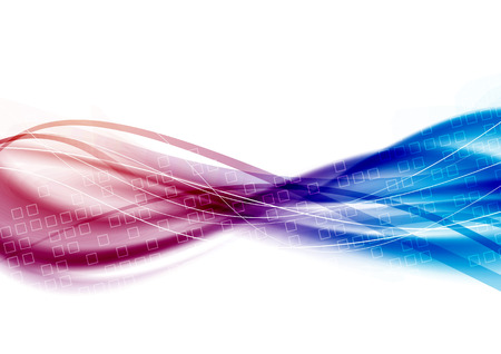abstract smoke: Satin swoosh lines flow - blue pink waves - certificate background. Vector illustration