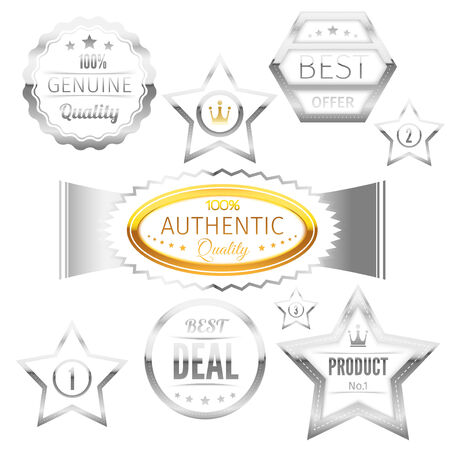 Best choice sign tags badges collection - luxury golden labels set isolated. Vector illustration Vector