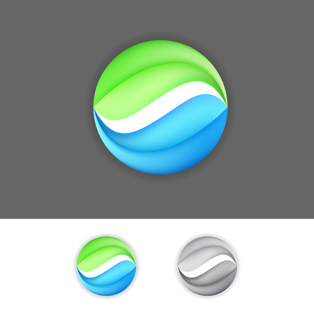 Corporate business green-blue eco sign element. Vector illustration Vector