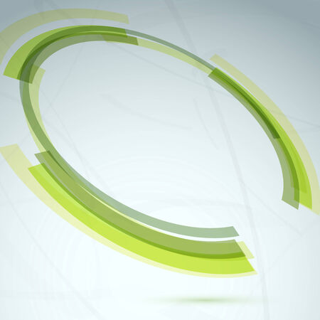 spin: Green round spin element abstract background. Vector illustration