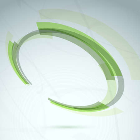 spinning wheel: Green abstract spinning wheel element background.