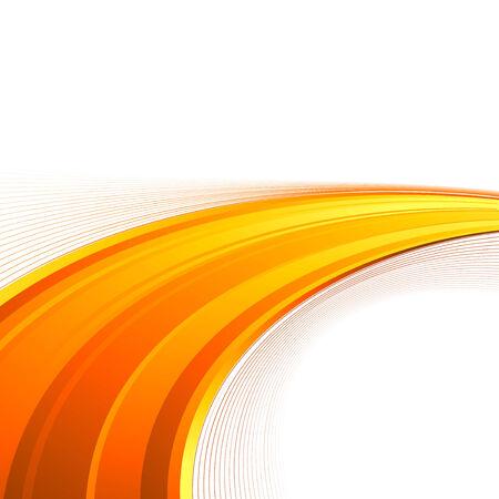 swoosh: Orange power swoosh wave folder template