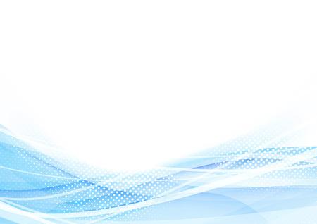 Ondes swoosh Résumé parsemées salut-tech background. Vector illustration Vecteurs