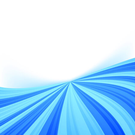 Blue stream line border wave background. Vector illustration Vector
