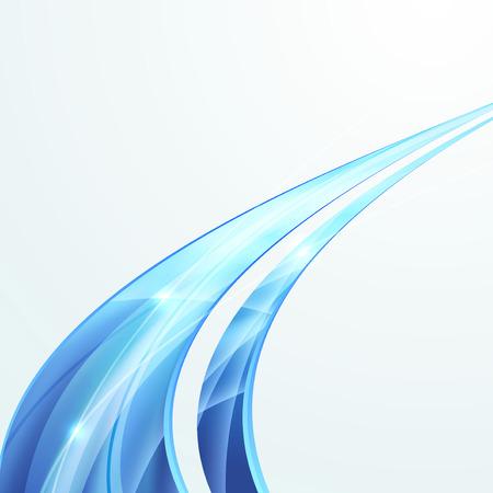 Bright swoosh speed rapid line folder design. Vector illustration Vector