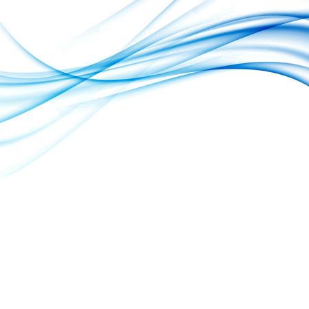flujo: Líneas abstractas modernas azules swoosh certificado - Velocidad fondo frontera onda suave. Ilustración vectorial