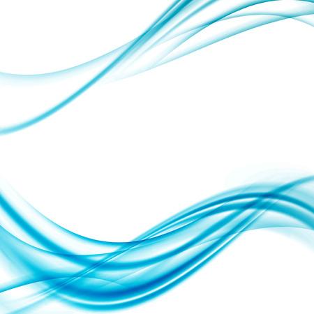 viento: Coloridos azules brillantes l�neas abstractas swoosh velocidad. Ilustraci�n vectorial Vectores