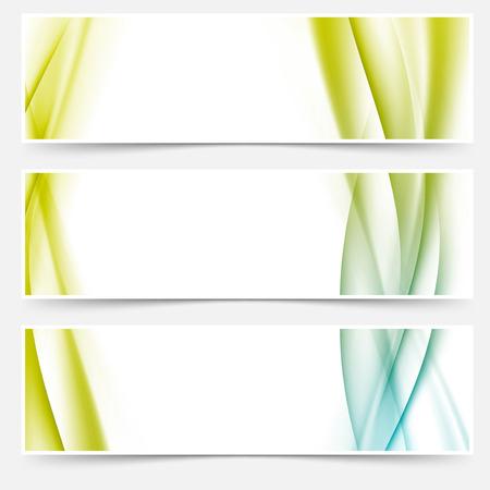 Header footer web modern satin line collection. Vector illustration Vector