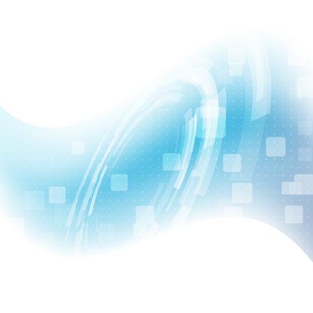 vague: La mod�lisation moderne vague bleue tech background - engrenage m�canicien. Vector illustration Illustration