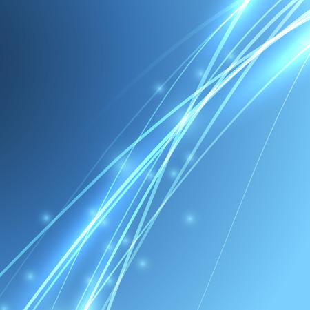 Potencia velocidad de ancho de banda eléctrica líneas olas. Ilustración vectorial Ilustración de vector