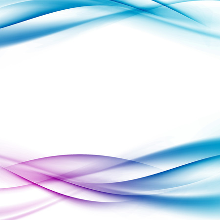 Swoosh certificate bright tech modern wave - futuristic divided border abstract background. Vector illustration