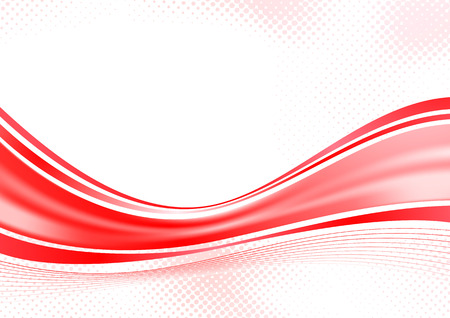 Bright red speed swoosh background line. Vector illustration