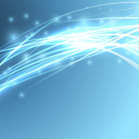 Bright speed sparkle abstract wire background - electric streak rapid light impulse line. Vector illustration