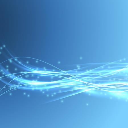 hitech: Speed bright swoosh wave blue modern bandwidth - light streak background. Vector illustration