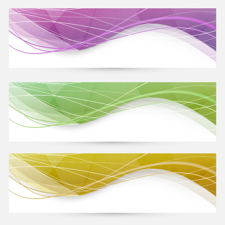 footer: Abstract crystal wave speed line website header  Illustration