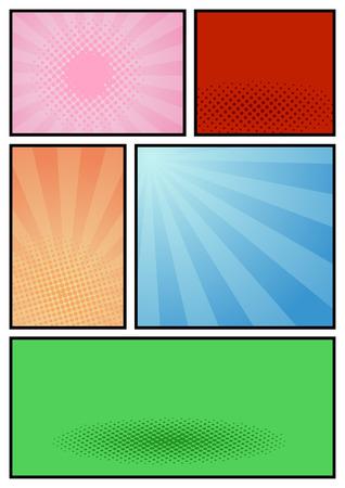 album page: Comic book page pop art template. Vector illustration