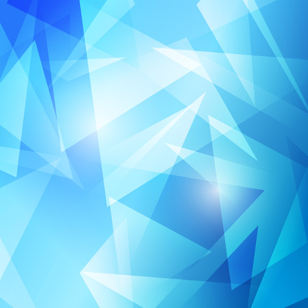 modernistic: Triangles abstract blue modern background - crystal structure futuristic template. Vector illustration