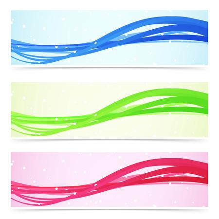 speed line: Velocit� in linea Web collezione colorata banner. Illustrazione vettoriale