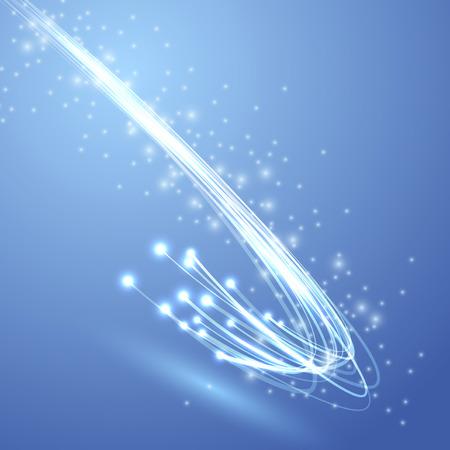 fibra óptica: Velocidad por cable canal ancho de banda swoosh - fondo moderno rápido ancho de banda. Ilustración vectorial