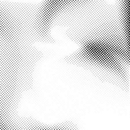 Abstract grain dotted noise background in black and white color. Vector illustration Ilustração