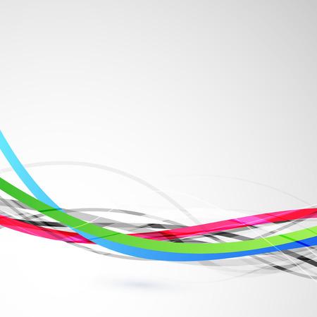 speed line: Luminosa colorata linea di velocit� di banda del cavo. Illustrazione vettoriale