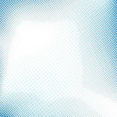Dotted blue abstract retro background old pop art style fashion. Vector illustration