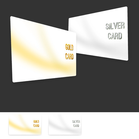 Member premium club card collection set. Vector illustration Vector
