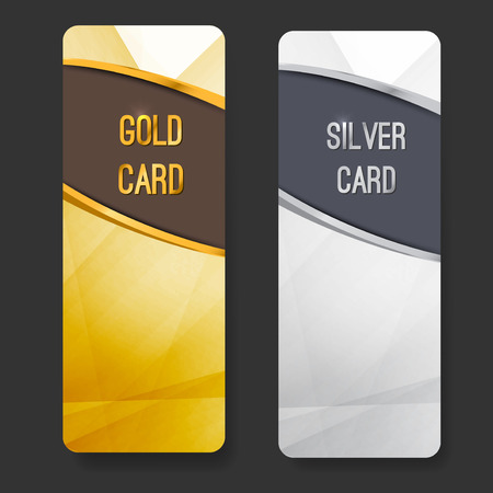 Premium membership club card collection for vip partners. Vector illustration Illustration