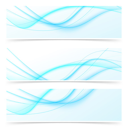 swoosh: Blue speed swoosh line abstract modern web banner. Vector illustration