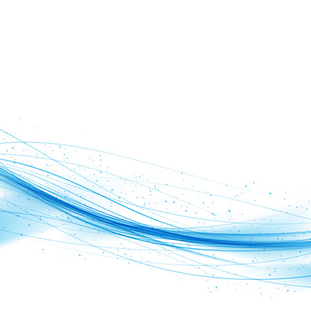 air flow: Swoosh blue wave lines over white background. Vector illustration