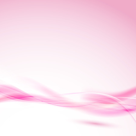 red wave: Abstract pink swoosh wave for wedding background. Vector illustration
