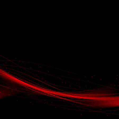 Bright red speed swoosh abstract lines background. Vector illustration