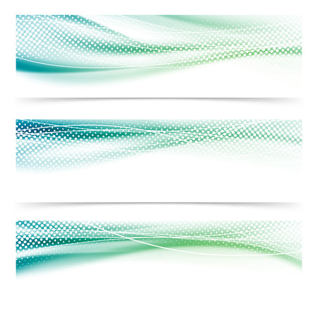 Abstract speed satin swoosh dotted header collection. Vector illustration