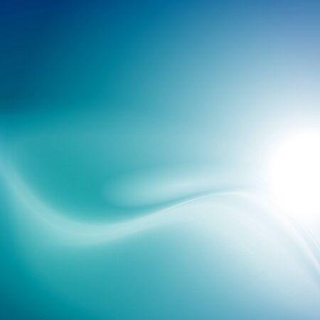 smooth background: Moderno blu liscio sfondo astrazione con onda swoosh. Illustrazione vettoriale