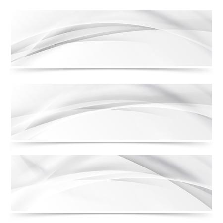 web header: Modern web transparent line layout abstract header set. Vector illustration