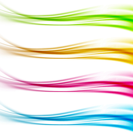 Collection of colorful bright web header footer dividers. Vector illustration
