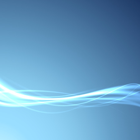 high speed internet: Power energy speed futuristic swoosh wave background - fiber optics broadband bandwidth channel blue layout. Vector illustration Illustration