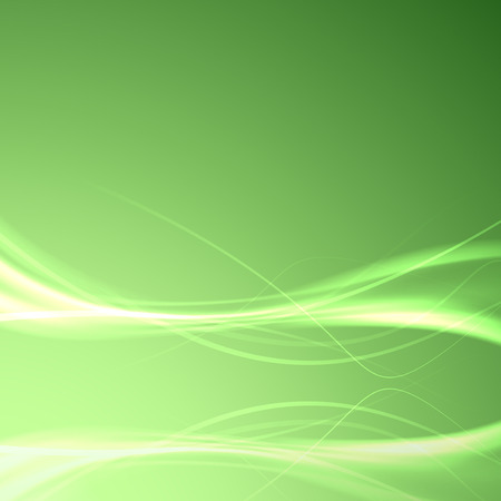 impulse: Speed smooth swoosh wave reflection background - light impulse electric streaks layout over green. Vector illustration