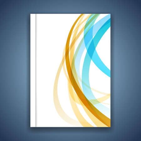 cool backgrounds: Colorful line stripe layout brochure cover modern abstract design. Vector illustration