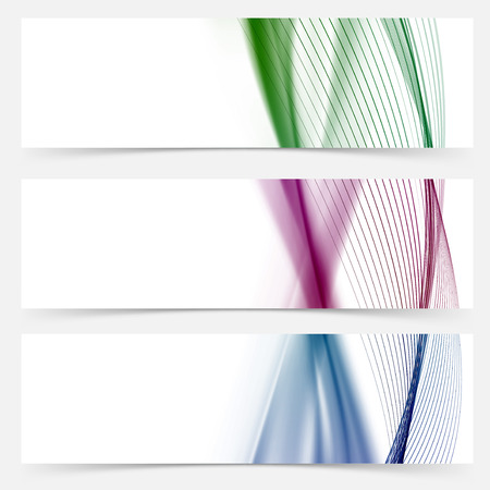 Line stripe colorful web banner collection. Vector illustration Vector