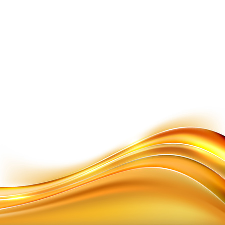 Modern orange swoosh line border background abstract layout. Vector illustration