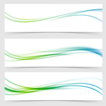 Speed modern abstract satin airy line flow header footer web collection layout. Vector illustration