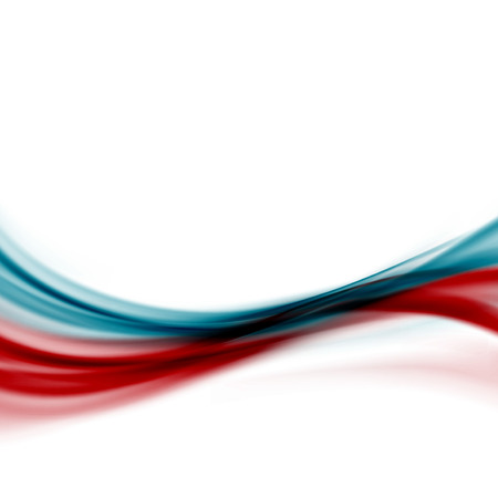 Blue red modern abstract line fusion transparent background. Vector illustration