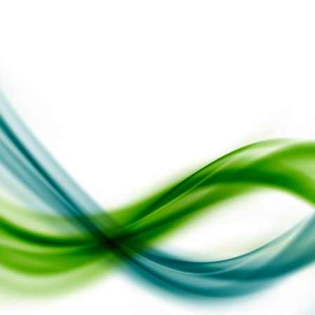 Green blue line fusion abstract swoosh wave layout.