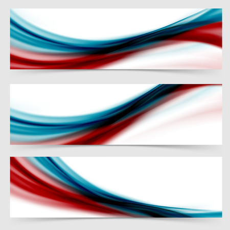 Smooth swoosh header footer web abstract collection fusion layout set template.