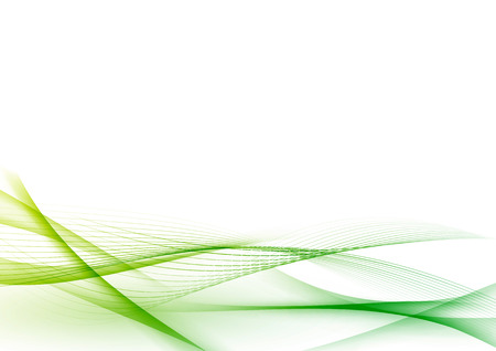 Ecological green abstract modern swoosh wave certificate. Vector illustration