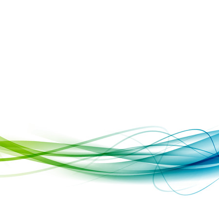 Green to blue line swoosh abstract background modern speed stripe business certificate card layout. 일러스트